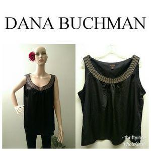 Dana Buchmann Black Summer Blouse-Sz. XL